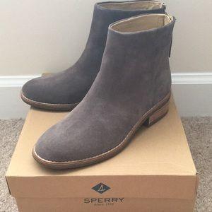 Sperry grey booties
